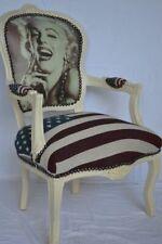 Fauteuil de style Louis XV drapeau USA Marilyn