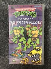 TEENAGE MUTANT HERO TURTLES CASE OF THE KILLER PIZZAS  SMALL BOX   VHS PAL VIDEO