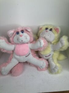 Vintage 1987 Purr-Tenders Pink yellow lot of 2 Chip-purr Fisher Price cat kitty