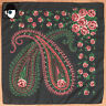 VINTAGE 60s 'TERITAL' ROSE & PAISLEY FRENCH SCARF - (Q)