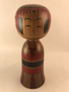 15cm Japanese Kokeshi Doll by Hisashiro Niyama - Made in Japan - Handmade Wooden
