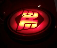 Royal Enfield Bullet Motorcycle RED NUMBER PLATE (R) LOGO LIGHT IMPORTED ITEM