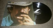 Time in a Bottle/Greatest Love Songs LP Jim Croce Vinyl Record GOLD STAMP PROMO