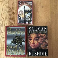 Salman Rushdie Lot of 3 Satanic Verses Moor's Last Sigh Midnight's Children