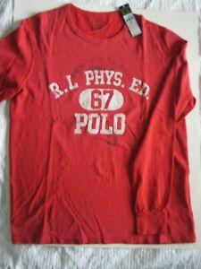 Ralph Lauren Polo Sweatshirt Long Sleeve Red size M  NWT