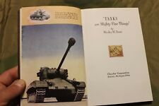 "Original 1946 d. HC Book, ""Tanks are Mighty Fine Things"" by Chrysler Corporation"