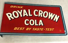 Double Sided Flanged Royal Crown Cola Sign