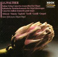 Walther, Johann Gottfried Italian string concertos transcribed for organ .. [CD]