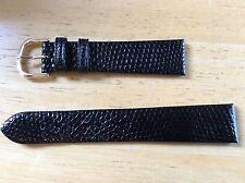NEW SPEIDEL WATCH BAND BRACELET - Genuine lizard Leather 19mm Black New