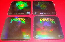 1990 Upper Deck Baseball Hologram Sticker Pittsburgh Pirates Retro Logo (Lot x4)