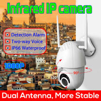 HD 1080p PTZ Outdoor Speed Dome IP Pan Tilt IR WiFi Security Camera Night Vision