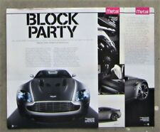 ASTON MARTIN VANTAGE V12 2009 Sports Coupe Car Auto Magazine Page Article Review