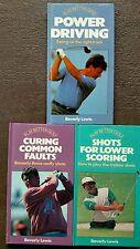 Lot of 3 Play Better Golf hardback books Power Driving Lower Scoring golf game