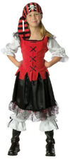 Pirate Girls Kids Buccaneer Child Costume Swashbuckler Outfit Caribbean Large