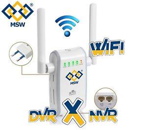 Ripetitore WiFi Wireless X DVR NVR Velocità N300, il tuo DVR NVR diventa  WiFi