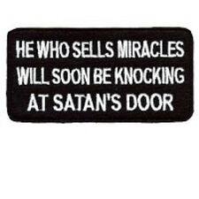 HE WHO SELLS MIRACLES EMBROIDERED BIKER VEST-JACKET PATCH