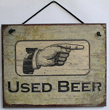 8x10 Sign Used Beer Bathroom Pointing Right Bar Drinking Pointing Directional