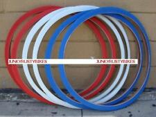 2 Tires @ 26x1 3/8 red white blue BIKE BICYCLE ROAD BIKE TIRES 37-590