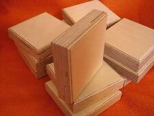 12 x Klotzfuß Möbelfuß Couchfuß Holz Birke roh Multiplex Quadrat 70 x 70 x 21mm