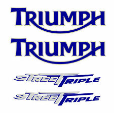 TRIUMPH street triple 675 (2008) blanche STICKER DECAL MOTO AUFKLEBER