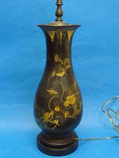 ANTIQUE 19 c. ENGLISH DRAGON MOTIF CHINOISERIE STYLE PAPIER MACHE TABLE LAMP