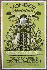 Yonder Mountain String Band 2014 Gig Poster Portland Oregon Concert