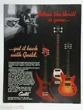 retro magazine advert 1983 GUILD guitar / bass
