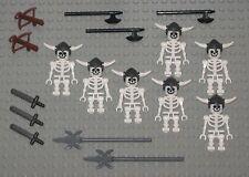 LEGO Minifigures Lot 7 Ninjago Skeleton Warriors Knights Castle Guys Minifigs