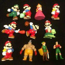 "RARE: 11 Vintage 1980s Applause Nintendo of America PVC Figurines 2.75"" Lot"