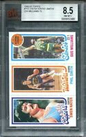 1980-81 topps #163 219 SWEN NATER/101 PHIL SMITH/224 WILLIAMS sonics BGS BVG 8.5