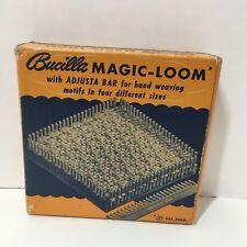 """Vintage 1940""""s Bucilla Magic Loom 4"""" x 4"""" Weaving Yarn"""