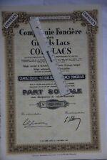 10 actions Congo belge Compagnie Foncière Grands Lacs COFOLACS KinduPort Empain