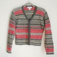 Kenji by Anthropologie 100% Wool Shetland Cardigan Sz Small Womens Sweater