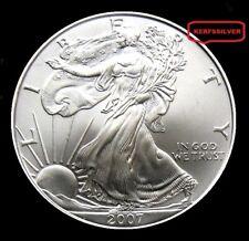 2007  AMERICAN SILVER EAGLE COIN  1  OUNCE  999  PURE FINE SILVER BULLION - UNC
