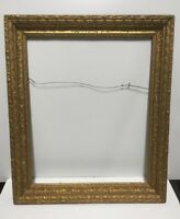 "Antique Gold Gilded Wood Picture Frame Fits 21 1/2"" x 27 1/2"" Lot#2"