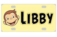 CURIOUS GEORGE MINI LICENSE PLATE Any Name Personalized for Kids Bicycles more