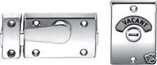 Bathroom Toilet Door Lock Vacant/Engage Indicator Bolt Satin (Good Quality Zinc)