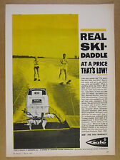 1963 Gale Sovereign 40 Outboard Motor water skiing skiers photo vintage print Ad