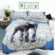 Aztec Elephant Blue Luxurious Duvet Covers Quilt Covers Reversible Bedding Sets