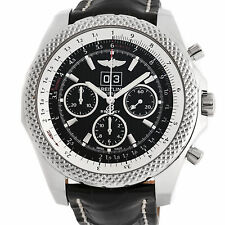 Breitling Bentley 6.75 Speed Auto 49mm Ebony Black Tang Mens Watch A4436412/BE17