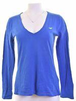 HOLLISTER Womens Top Long Sleeve Size 12 Medium Blue Cotton  JM01