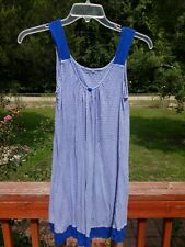 George Casual Shirt Dress / Tunic M / Medium ( 8 - 10 ) Blue Stripe