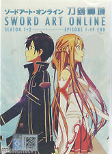 DVD Sword Art Online Season 1 + 2 ( Eps. 1 - 49 End ) with Eng SUB + Free Shippi