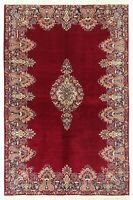 """Hand Knotted Traditional Red Navy Birjand Oriental Rug Carpet 6'6"""" x 9'7"""""""