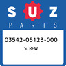 03542-05123-000 Suzuki Screw 0354205123000, New Genuine OEM Part