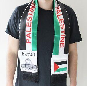 Palestina Bandiera Sciarpa (Palestina - Alquds Lana) Autentico Shemagh Kuffiyeh
