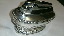 Queen Anne Vintage 1950's Ronson Silver Plated Desk Table Cigarette Lighter