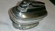 Queen Anne Vintage 1950's Ronson Silver Plated Desk Table Cigarette Lighter