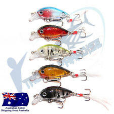 5x 35mm Crank baits Fishing lures Shallow Hardbody Crankbait BREAM BASS Shrimp 3