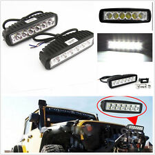 2 Pcs 18W 6 LED Driving Fog Work Light Spot Light For 4x4 Jeep Compass Cherokee